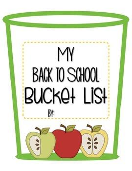 Back to School Bucket List