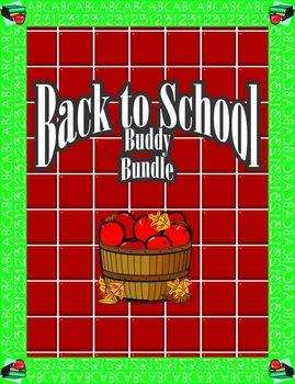 Back to School Buddy Activity Bundle