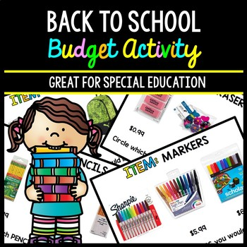 Back to School Budget - Special Education - Shopping - Life Skills - Money