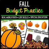 Fall Budget - Special Education - Shopping - Life Skills - Money - Autumn