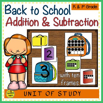 Back to School Build a 2 Addend Addition or Subtraction Sentence ...