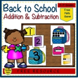 Back to School Build a 2 Addend Number Sentence With Ten Frames {FREE}