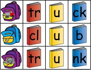 Back to School Build a Word Center Game