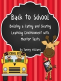 Back to School Building a Caring and Sharing Environment w