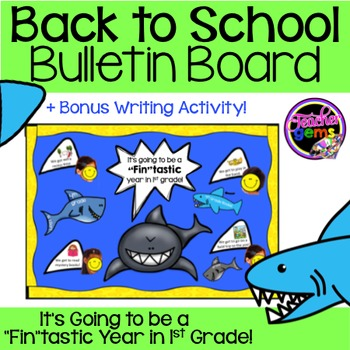 Back to School Bulletin Board 1st Grade Sharks