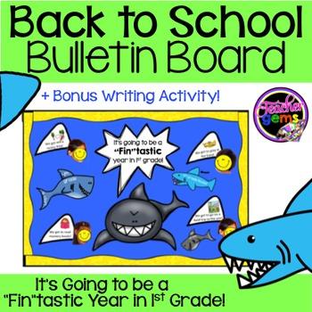 Back to School Bulletin Board 1st Grade Sharks