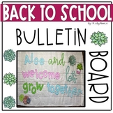 Back to School Bulletin Board  succulent themed