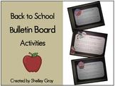 Back to School Bulletin Board Activities