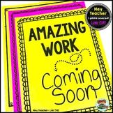 Back to School Bulletin Board: 'Amazing Work Coming Soon' (FREE)