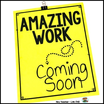 Back to School Bulletin Board: 'Amazing Work Coming Soon' (FREE)