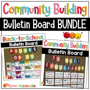 Back to School Bulletin Board BUNDLE for Community Building