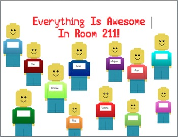 Back to School Bulletin Board: Everything is Awesome Brick People