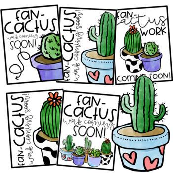 Back to School Bulletin Board - Fan-CACTUS Work Coming Soon!