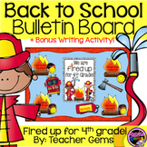 Back to School Bulletin Board Fourth Grade