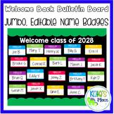 Back to School Bulletin Board- Jumbo Editable Name Tags