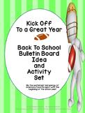 Back to School Bulletin Board Idea and Activity Set - Kick