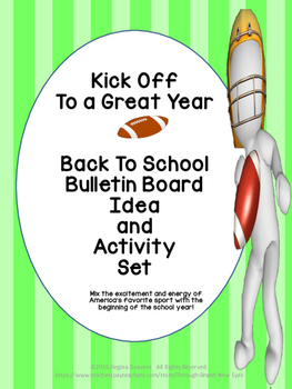 Back to School Bulletin Board Idea and Activity Set - Kick Off To A Great Year