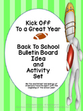Back to School Bulletin Board Idea and Activity Set - Kick