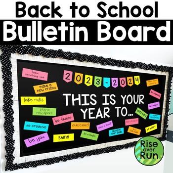 Back to School Bulletin Board Kit