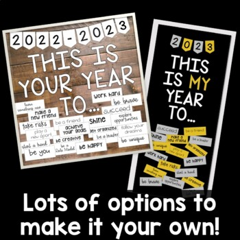 Back to School or New Year Resolution Bulletin Board or Door Kit