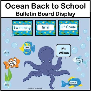 Back to School Bulletin Board -Ocean Theme #Sale