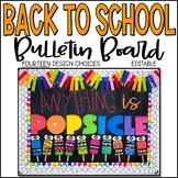Back to School Bulletin Board - Popsicle Style - Editable!