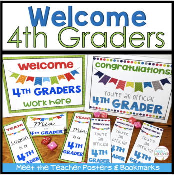 Back to School Bulletin Board Posters and Bookmarks for 4th Grade