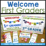 Back to School Bulletin Board Posters and Bookmarks for 1st Grade