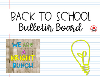 Back to School Bulletin Board Set