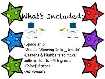 Back to School Bulletin Board - Soaring into ___ Grade