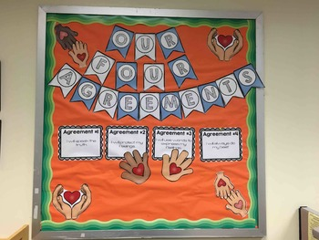 Back to School Bulletin Board based on The Four Agreements