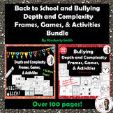 Back to School & Bullying Depth & Complexity Frames, Games