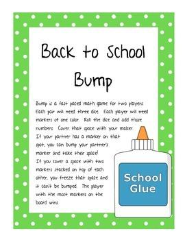 Back to School Bump