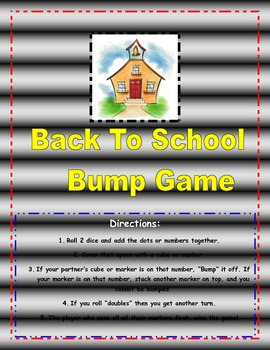 Back to School Bump Center Game