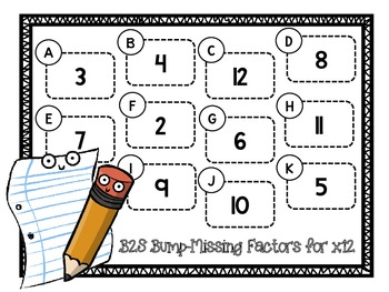 Back to School Bump-Find the Missing Factor