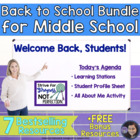 Back to School Bundle For Middle School