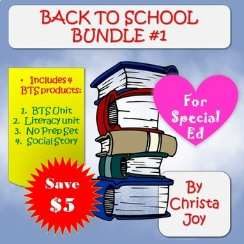 Back to School Bundle 1 for Special Education