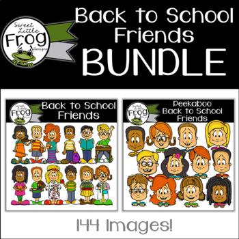 Back to School Friends Clip Art Bundle