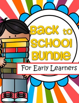 Back to School Bundle Preschool and PreK 14 Packs