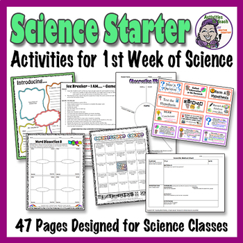 Science Back to School - First Days of School Science Kit - 47 pages