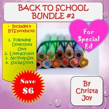 Back to School Bundle 2 for Special Education