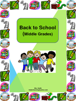 Activities: Back to School Bundle