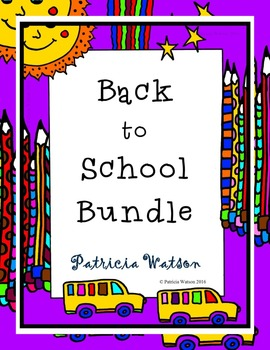 Back to School Worksheet Bundle