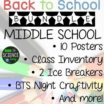 Back to School Bundle: Ice Breakers, Class Inventory, Posters, Banners and More