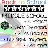 Back to School Activities Bundle: Middle School