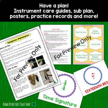 Back to School Bundle for Band Directors