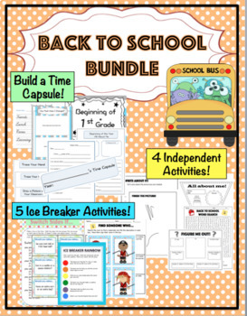 Back to School Bundle: Ice Breakers, Time Capsule Kit, Word Search, and More!