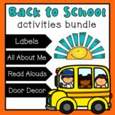 Back to School Bundle {Beginning of the Year Activities}