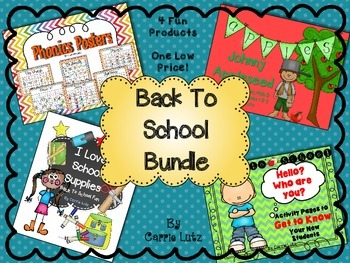 Back to School Bundle ~ 4 FUN Products at One LOW Price