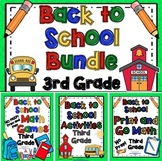 Back to School Activities - 3rd Grade Bundle